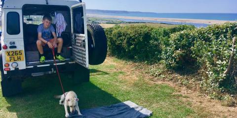 Camping in Dorset.